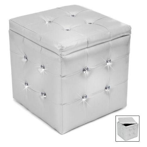 Glamour Storage Cube Http Www Wakeupfrankie Com Products 442 2258 Seating Glamour Storage Cube Square Storage Ottoman Square Pouf Ottoman Silver Storage