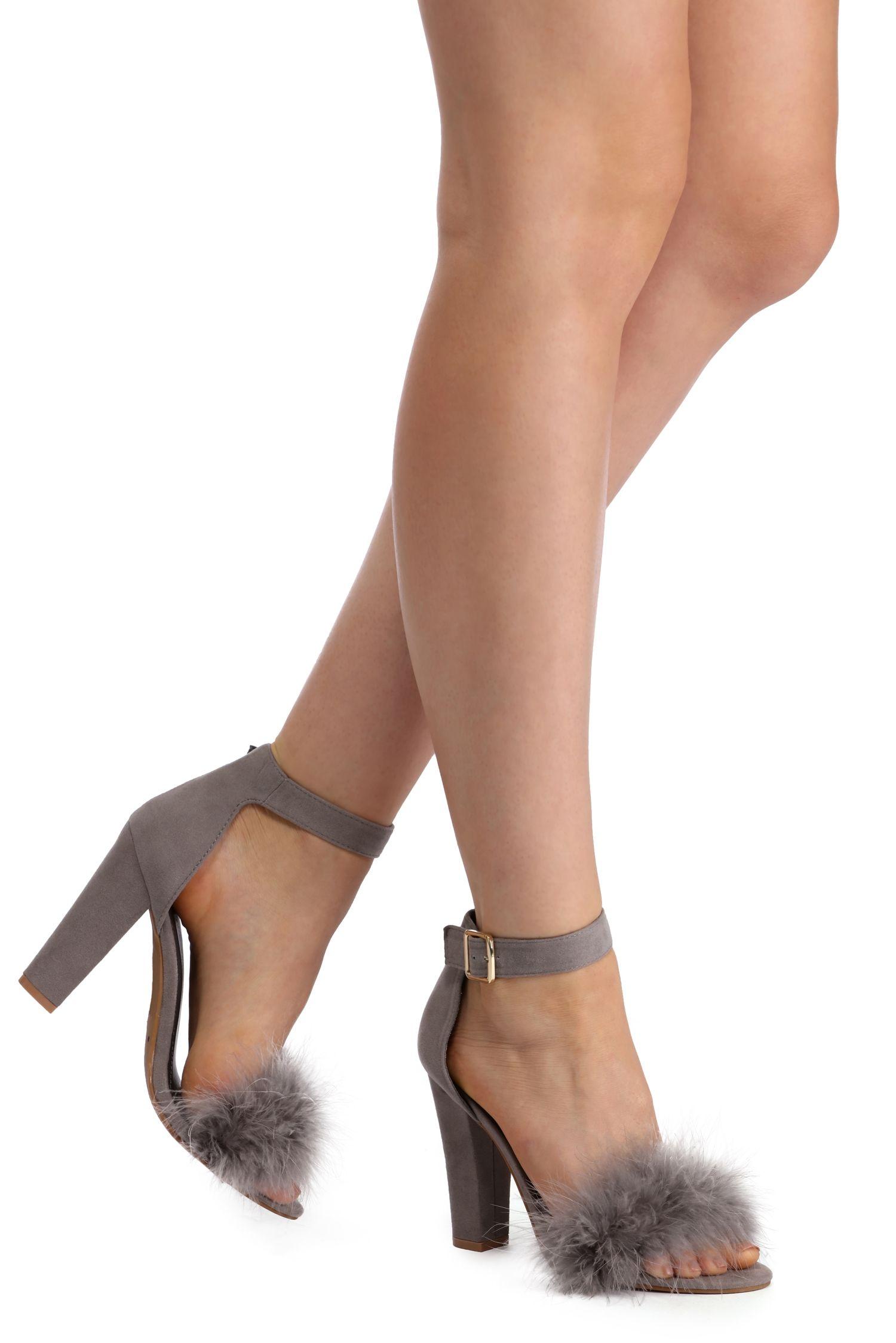 Kick It Up a Notch Feather Heel | Feather heels, Heels