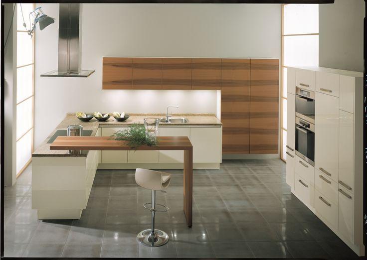 Keuken Bar Design : Keuken bar hout doorlopend de kamer in google zoeken ideeën
