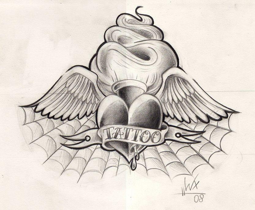 403 Forbidden Heart Drawing Heart Tattoo Designs Heart Sketch