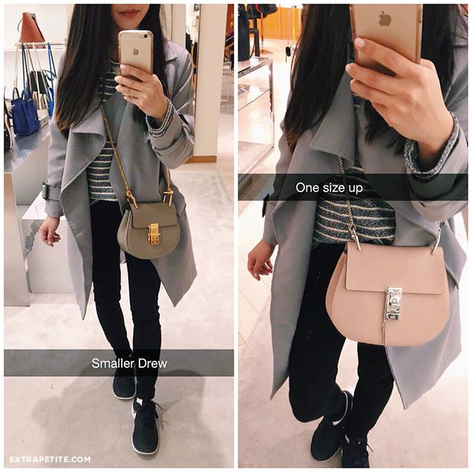 Chloe drew bags in gray and pink 82b62f755d614