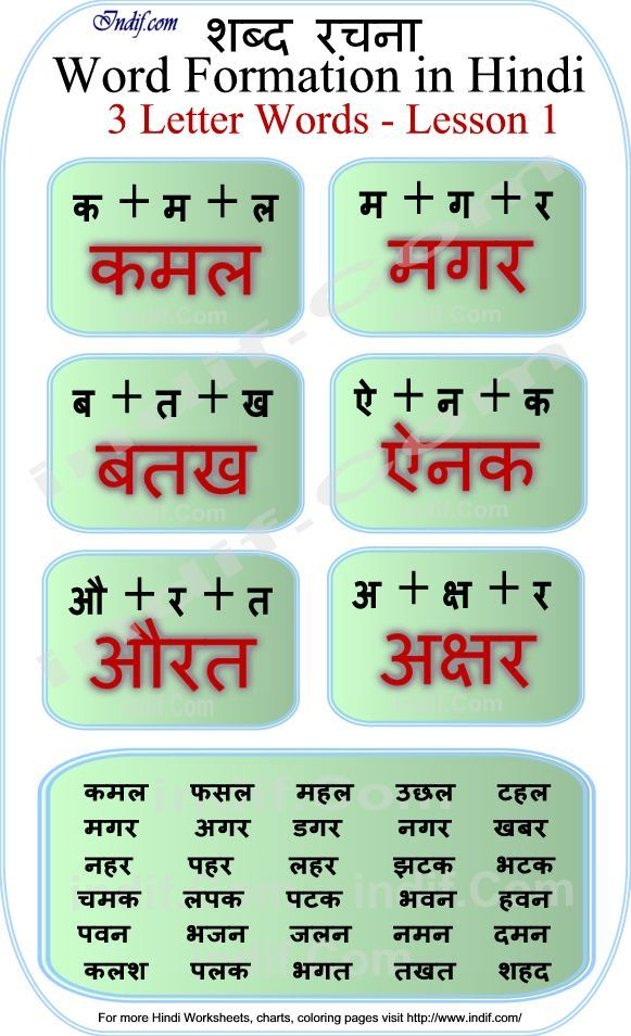 Read Hindi 3 Letter Words Hindi Pinterest Worksheets