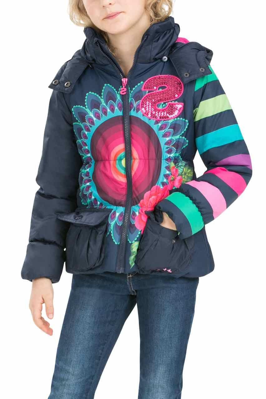 2cba28edd369 Desigual Girl Coat Pitaya, Canada | Mode-Desigual és VIRÁGOSAK ...