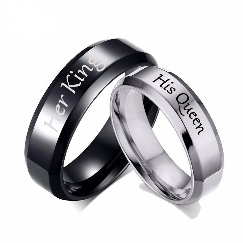 815e4c5d6a His Queen Her King Rings for Women Men Stainless Steel Anniversary Band  Valentine's Day Gift for just $12.99. Extra 20% Off Your Orders - Code:  SOCIAL20 ...