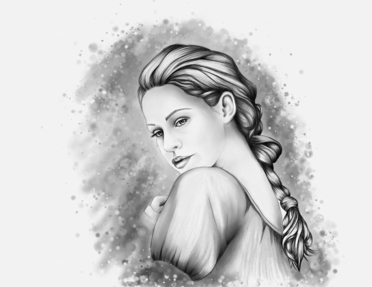 Girl pencil art hd wallpaper for iphone