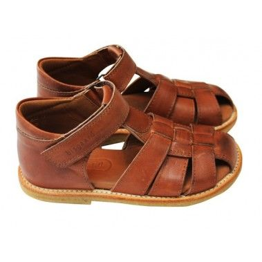 71abe01f2314 Bisgaard Classic Leather Sandals in Cognac - Top