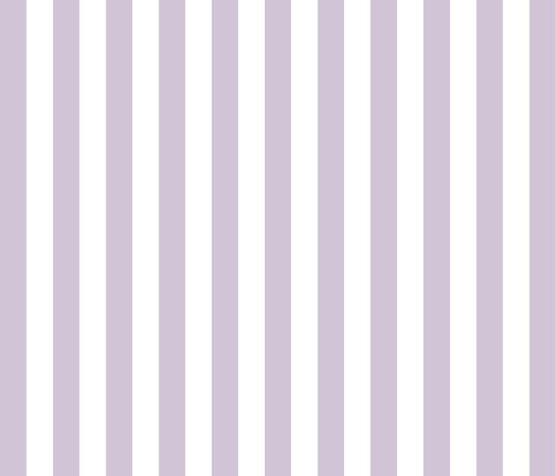 """Woolf With Me™ Fitted Crib Sheet in Lavender+White 1"""" Stripe"""