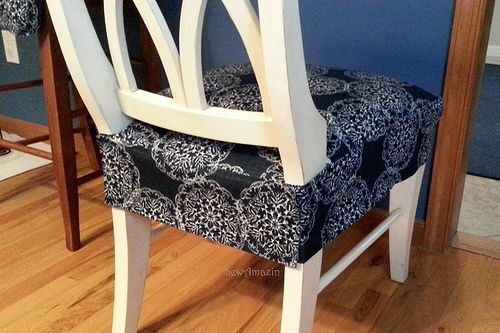 Dining Chair Fabric Seat Covers Bamboo Kitchen Cover Diy Pinterest For