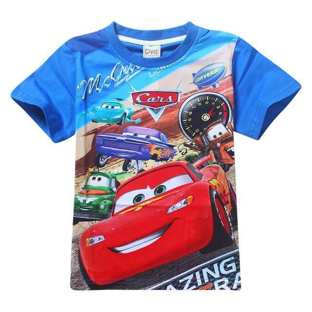 2017 Neu Sommer Boys T-Shirt Baumwolle Cars