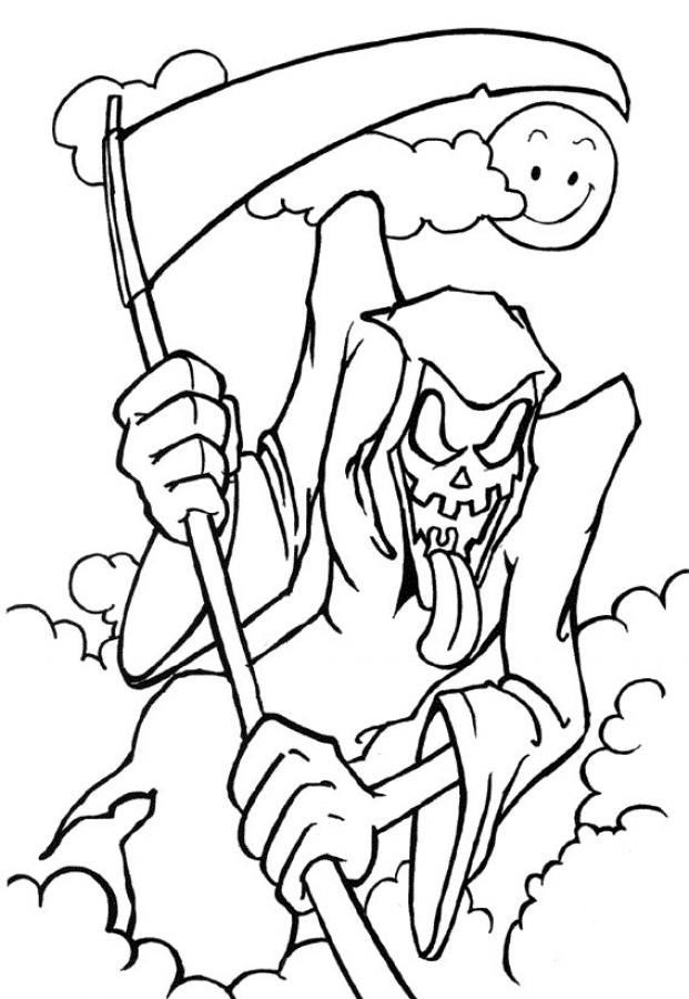 Scary Halloween Mask Coloring Pages | Scary Halloween Coloring ...
