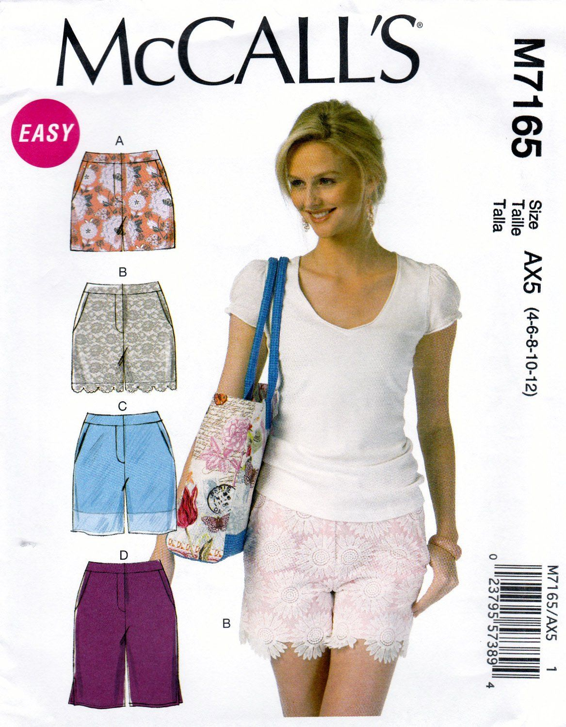 Misses/' Short Shorts Skort and Mini Skirt Simplicity Sewing Pattern 1370