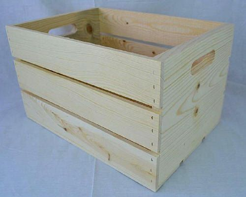 Slatted Wooden Crate Made Of Western Pine With By Cratesolutions Wooden Storage Crates Crate Storage Wooden Storage