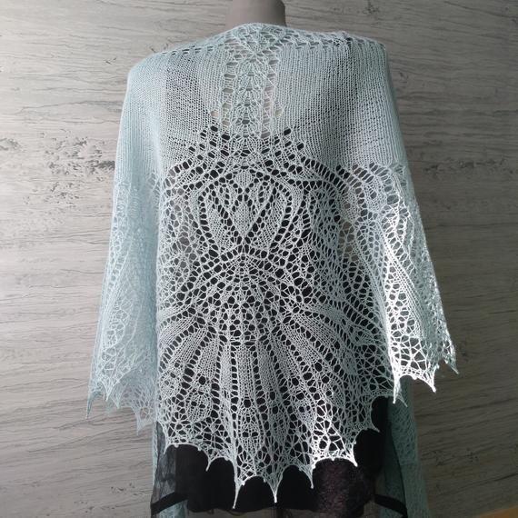 Wing shawl Bridal shawl cape Wedding lace shawl from ...