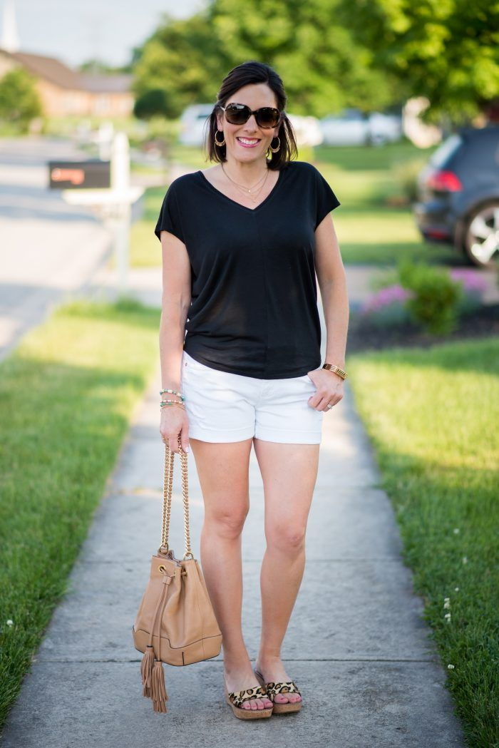 ab2cd424204a Summer Outfit Inspo  Casual Black and White Summer Outfit for Moms