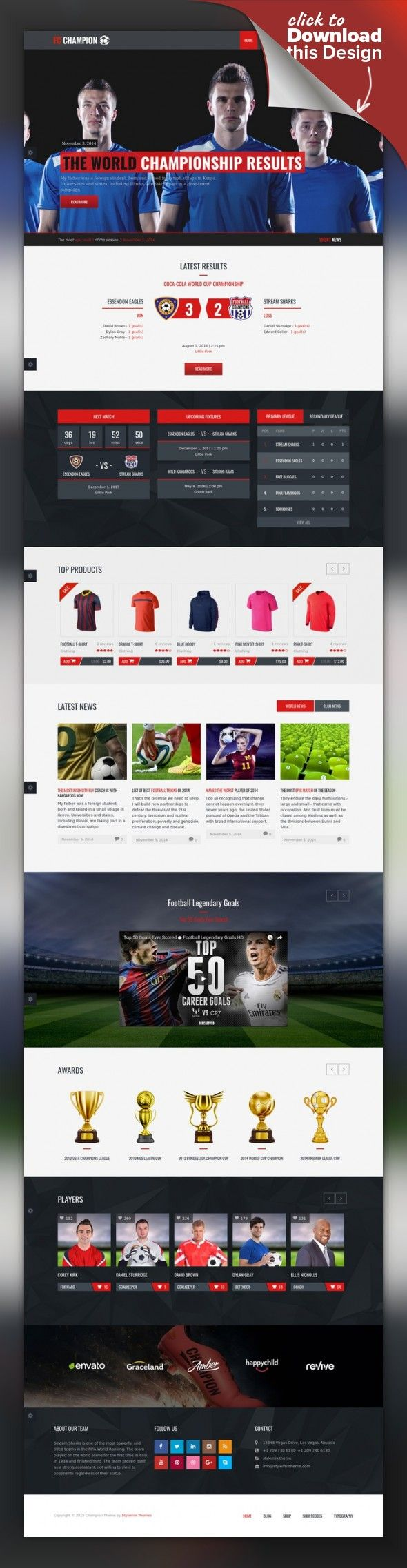 Champion Soccer Football Wordpress Theme Wordpress Template