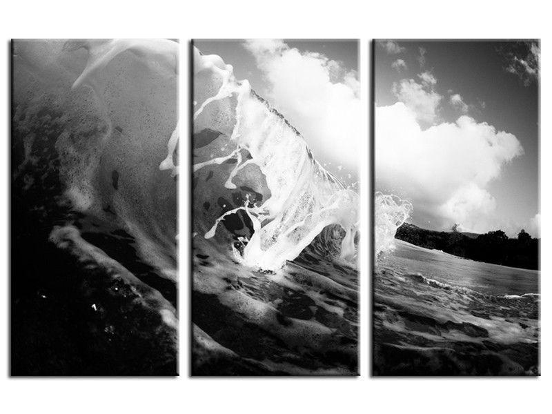 Tableau Moderne Noir Et Blanc : tableau surf noir et blanc sur toile plexiglass et alu pas cher tableau surf pinterest ~ Teatrodelosmanantiales.com Idées de Décoration