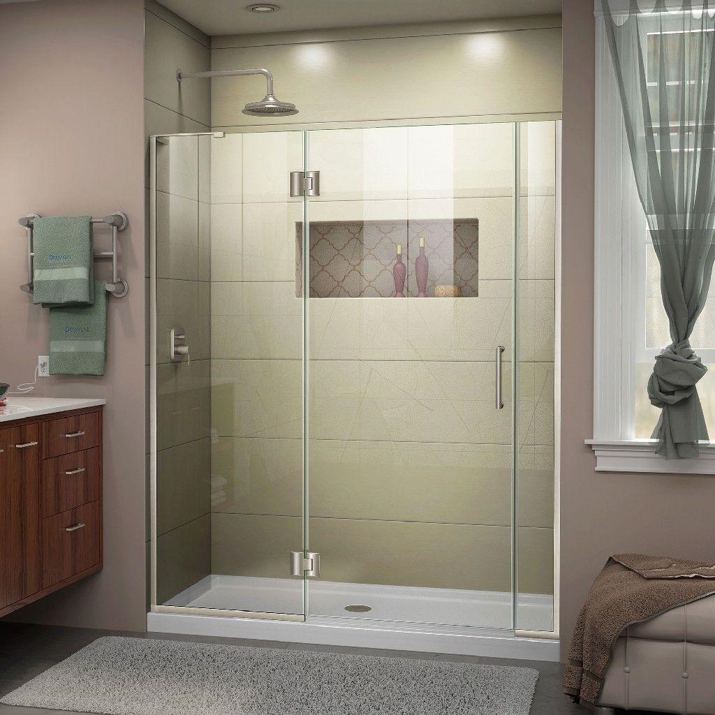 Dreamline Unidoor X 58 1 2 59 W X 72 H Hinged Shower Door In