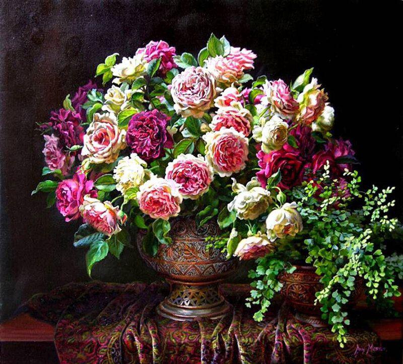 Я люблю рисовать цветы... Художница Ann Morton. в 2020 г ...