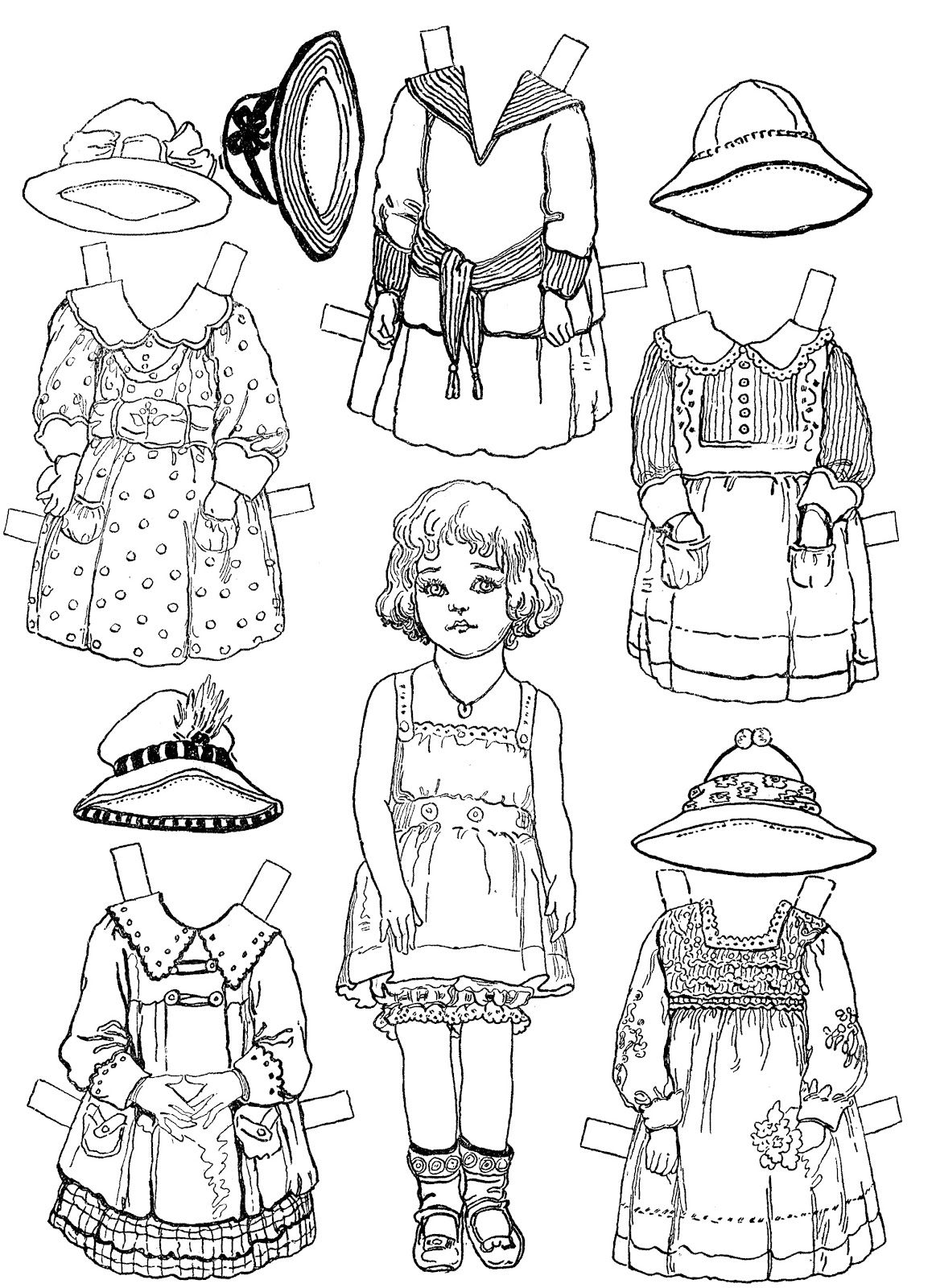 Little Girl Paper Dolls Paper Dolls Printable