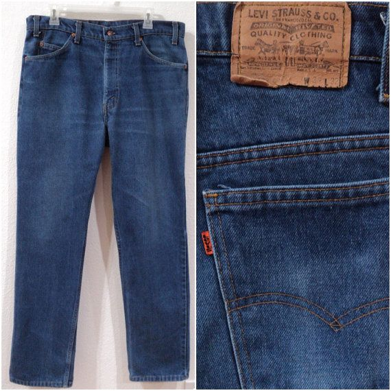 Vintage Levi S 509 Jeans Orange Tab Zip Fly Straight Leg Cotton Polyester Blend Made In The Usa Men S Size 34 35w Vintage Levis Classic Denim Levi
