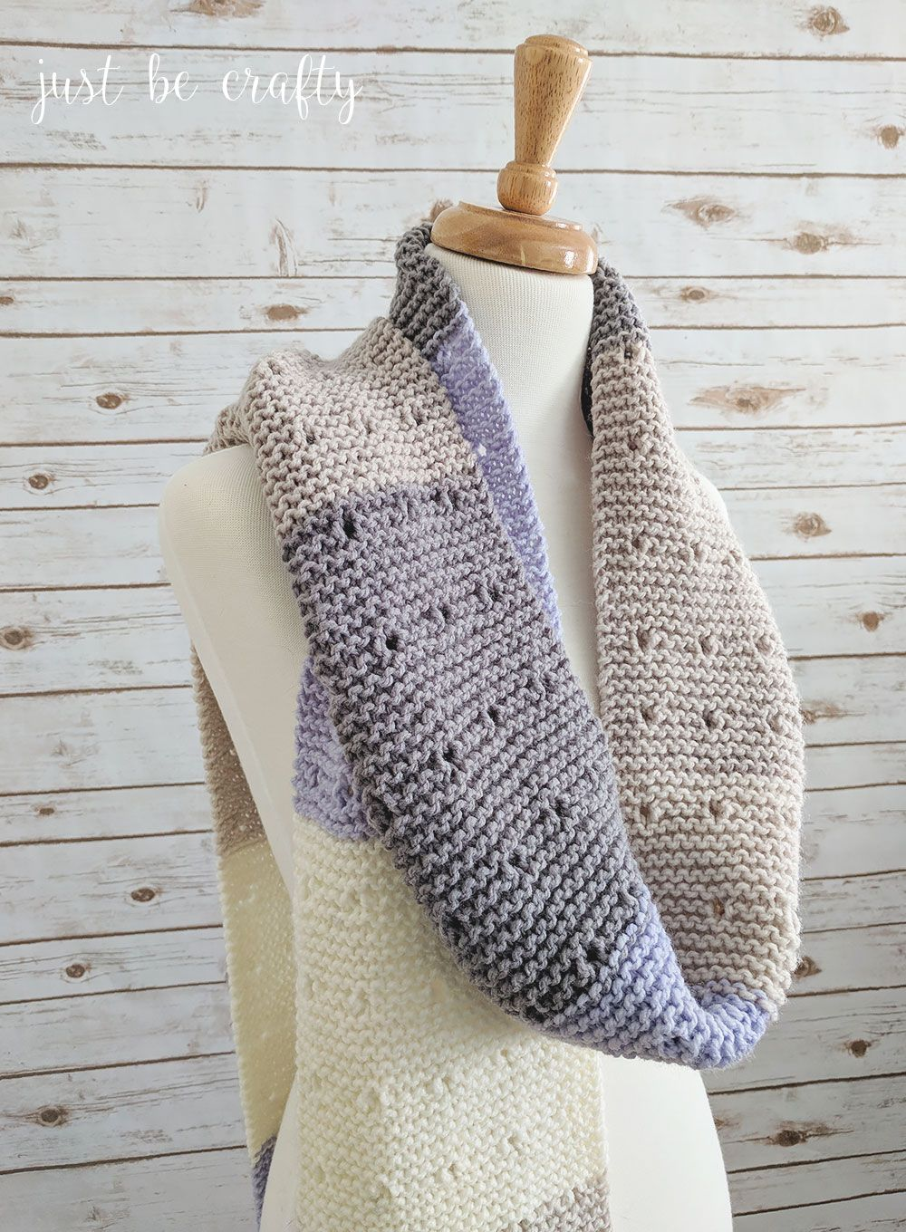 Star Dust Knitted Garter Stitch Scarf Pattern | Moogly Community ...