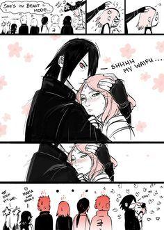 tenyai: Best form of Sakura anger management :D Sasuke you