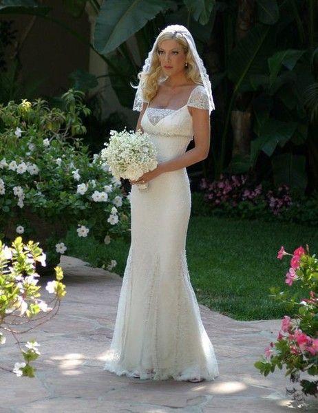 Tori Spelling Most Expensive Wedding Dress Celebrity Wedding