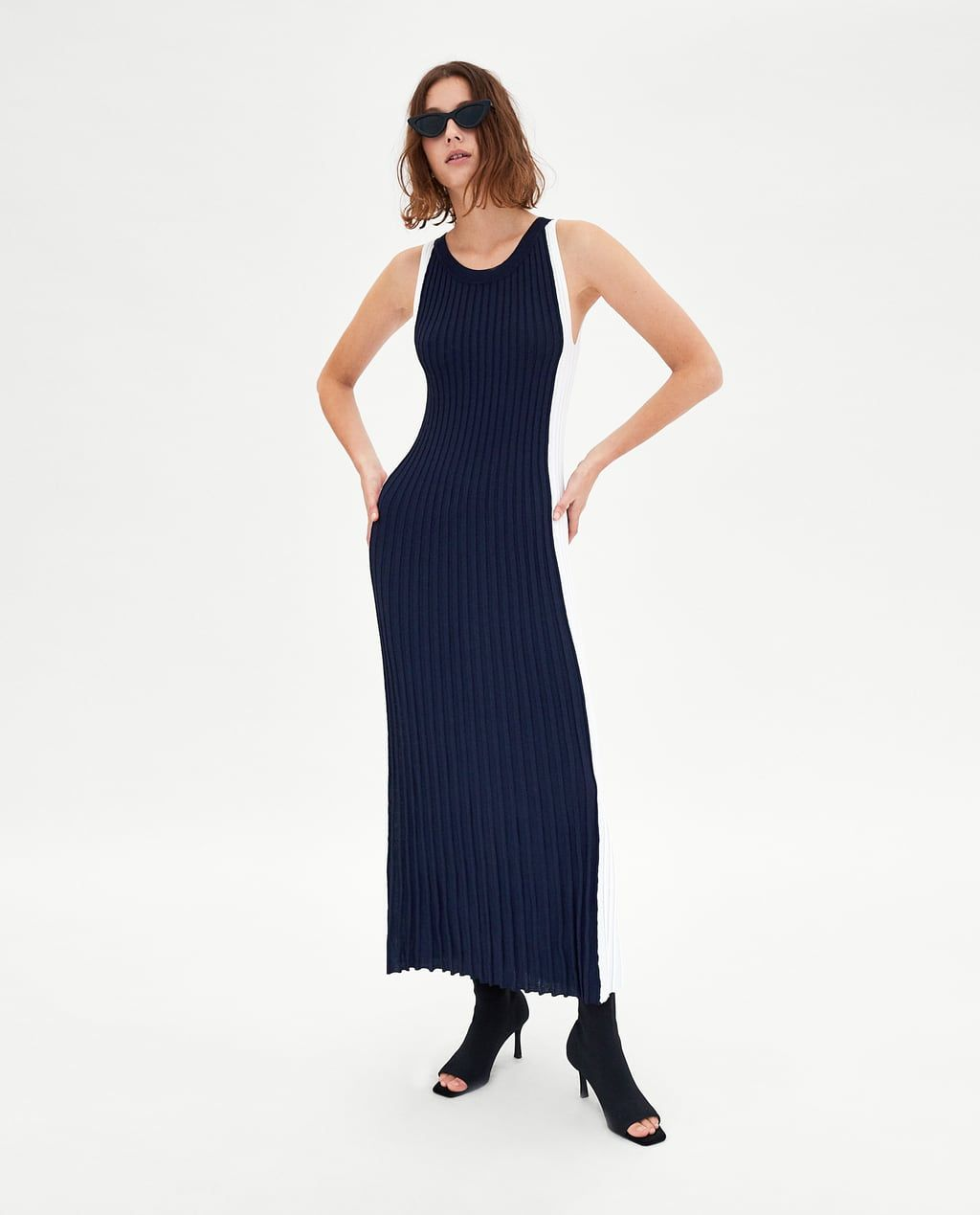 ZARA - WOMAN - LONG TWO-TONE DRESS  Modestil, Overall kleid, Zara