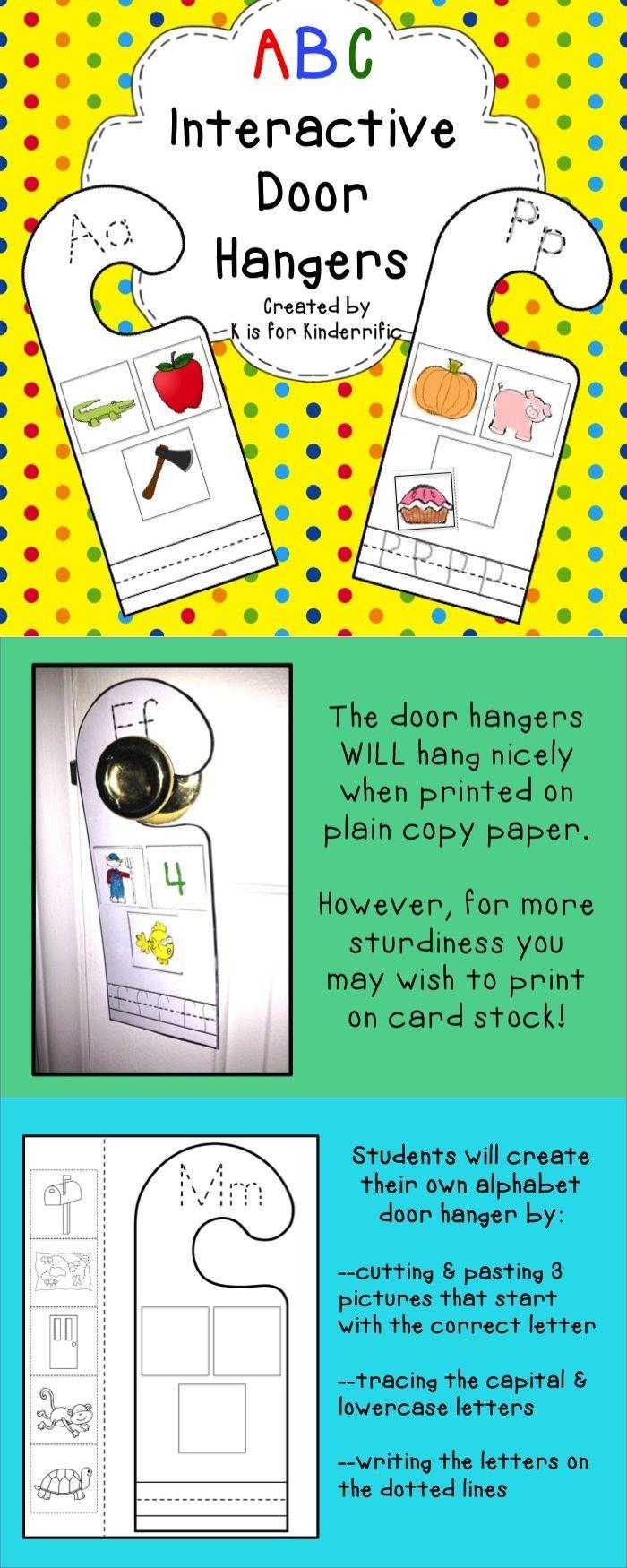 ABC Interactive Door Hangers | Hanger, Students and Doors