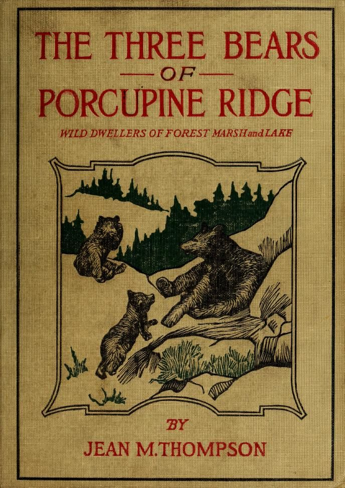 The three bears of Porcupine Ridge, wild dwellers of forest, marsh and lake (1913)