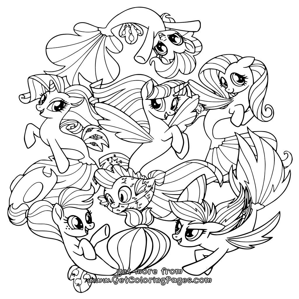 My Little Pony Ausmalbilder Tempest : My Little Pony Movie 2017 Coloring Pages Seaponies My Little Pony