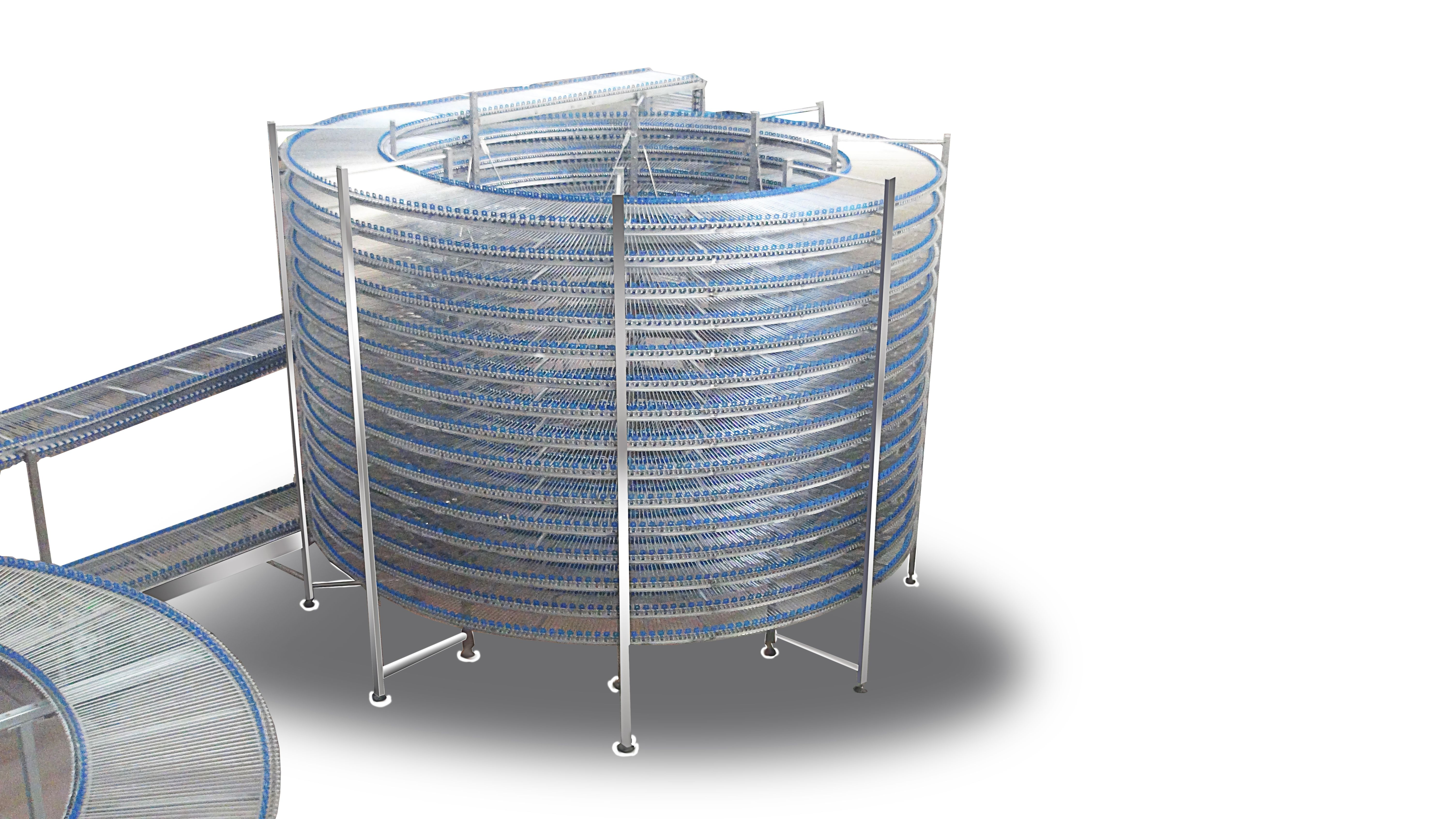 Bread Cooling Tower Spiral Cooling Tower This Machine Is Equipped