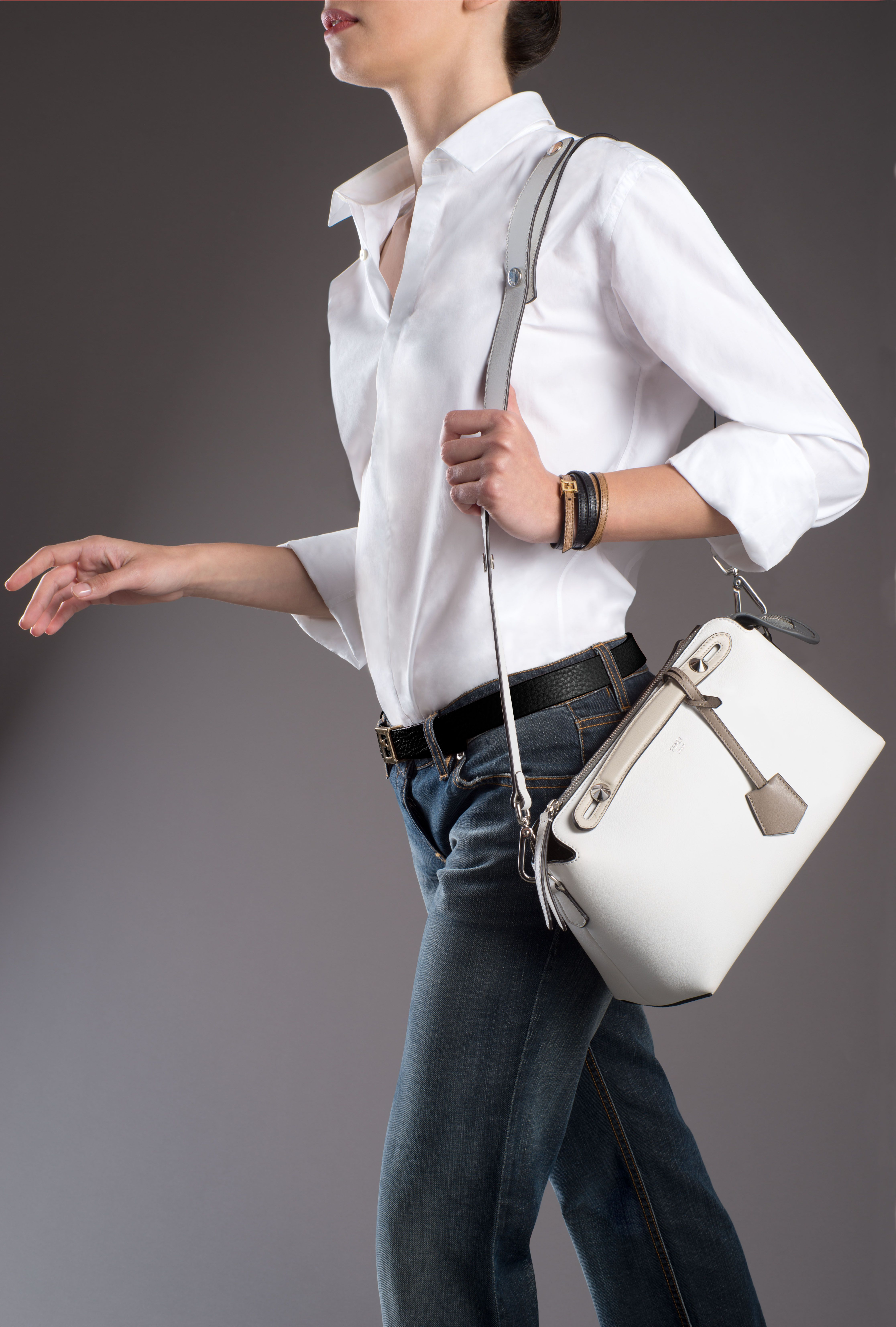 c46f1541d5 The Fendi Fall Winter 2014-15 By The Way bag worn with the long strap