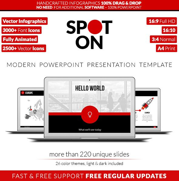 Spot On  Powerpoint Presentation Template  Powerpoint