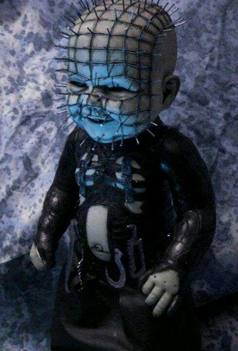 Pinhead baby doll   Horror movie art, Scary dolls, Horror ...