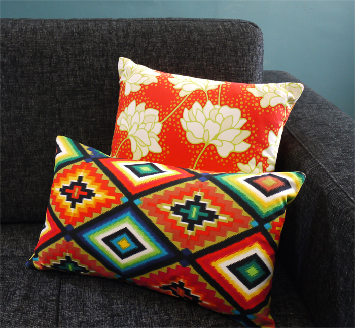 Decorative Pillows Hispanic Style Mexican Cushion Neon Aztec