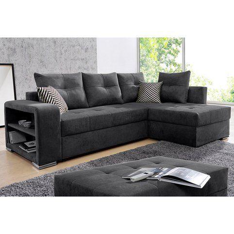 Canape D Angle Convertible Avec Rangements En Microfibre Primabelle 3suisses Ecksofas Ecksofa Sofa