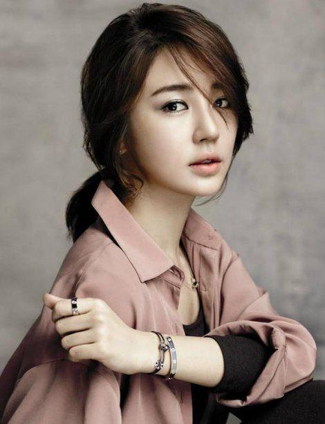 Love The Shirt And Hair Yoon Eun Hye Korean Actresses Beauty