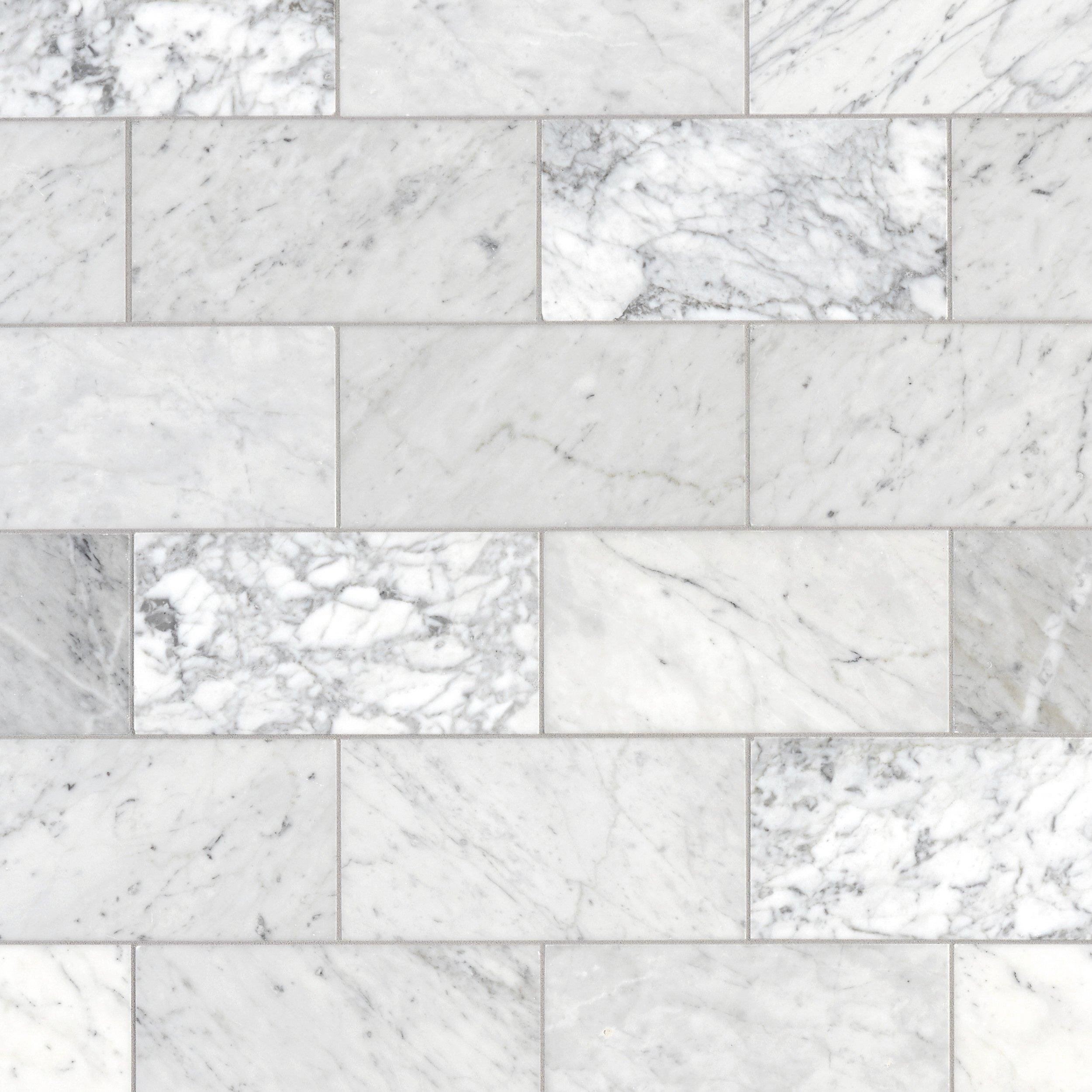 Bianco Carrara Marble Tile In 2020 Marble Tiles Carrara Carrara Marble