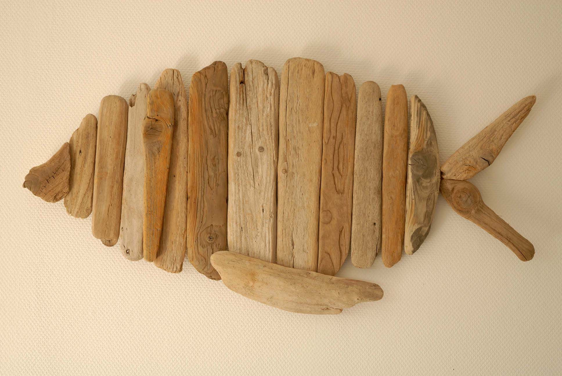 Wanddekoration Treibholz Treibholz Wanddekoration Friendly Fish Driftwood Wall Decoration
