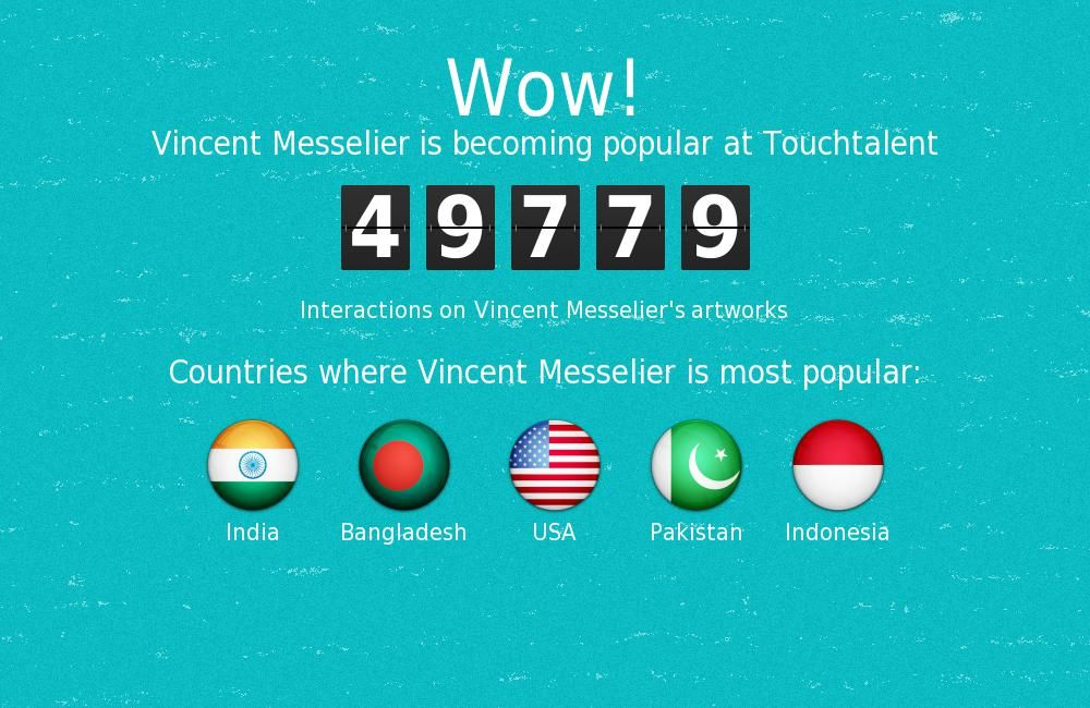 Vincent Messelier is becoming popular @Touchtalent.com