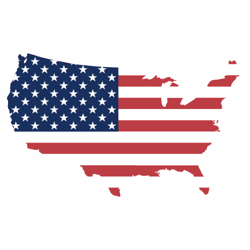 America Flag Outline Sticker  With Images