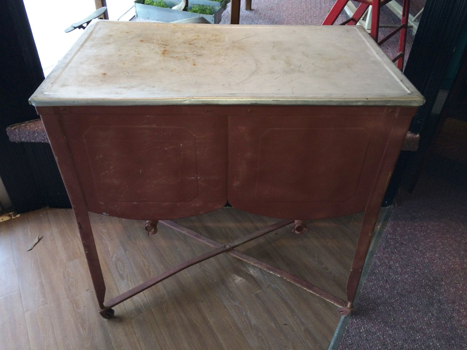 Metal Wash Bin Sale Old Galvanized Double Wash Tub Washtub With Original Lid