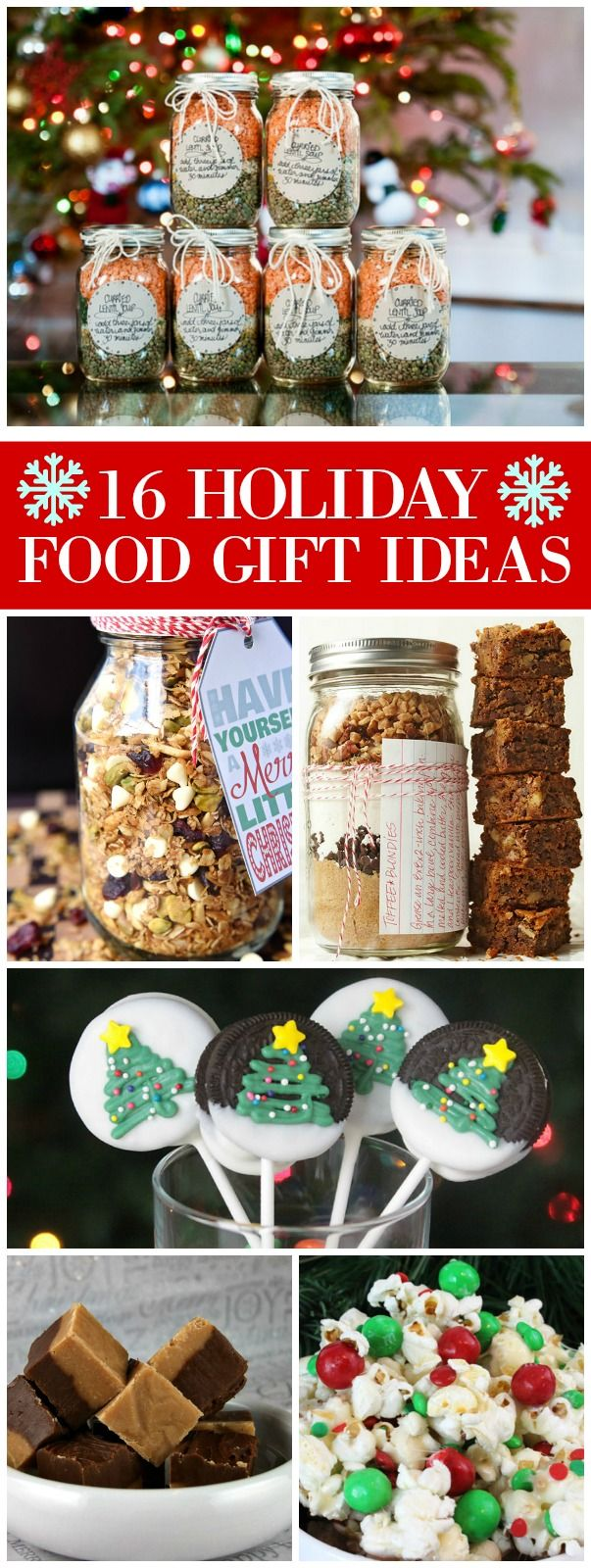 16 delicious ideas for holiday food gifting pinterest fudge 16 holiday food gift ideas recipes included soup mix in a jar cookies in a jar fudge cookies oatmeal in a jar gingerbread granola and more forumfinder Images
