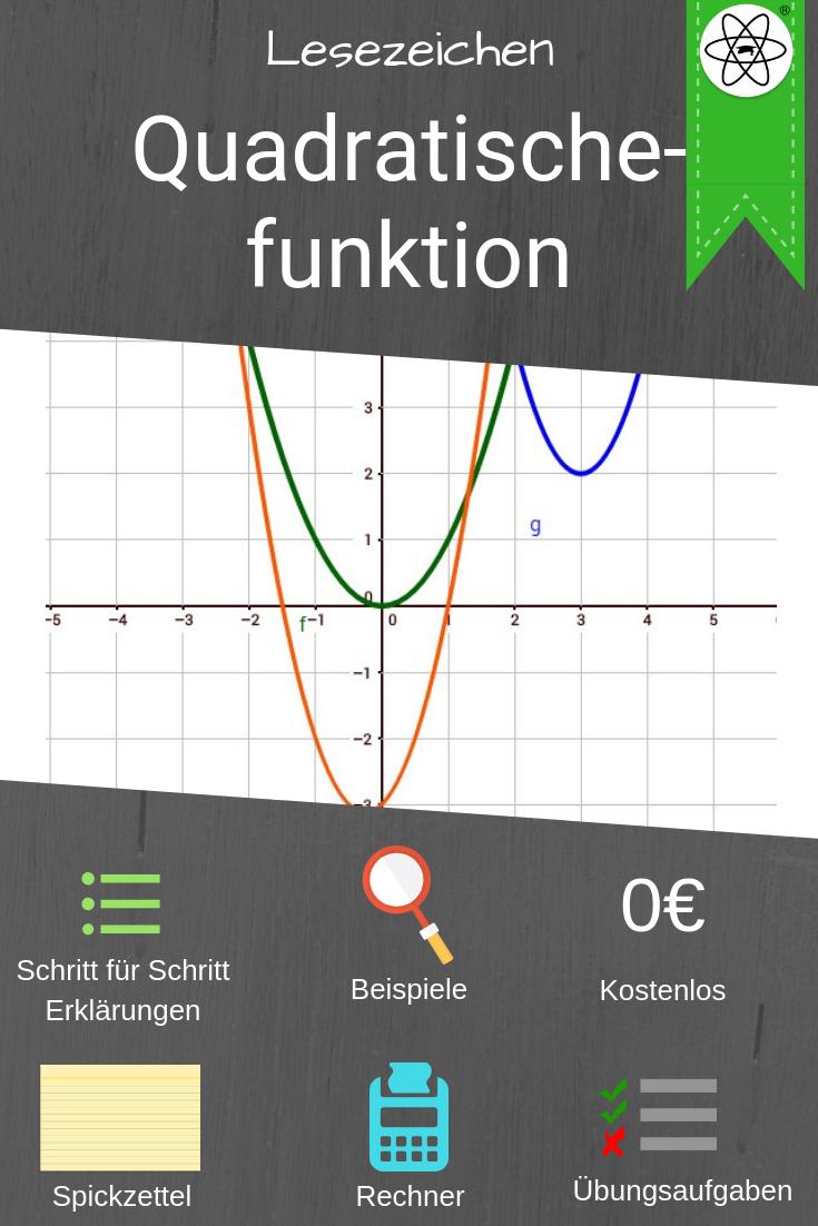 Lesezeichen Zur Erklarung Der Quadratischen Funktionen Von Nullstellen Berechen Bis Zum Verschieben Von Funktio Quadratische Funktion Spickzettel Mathe Tricks