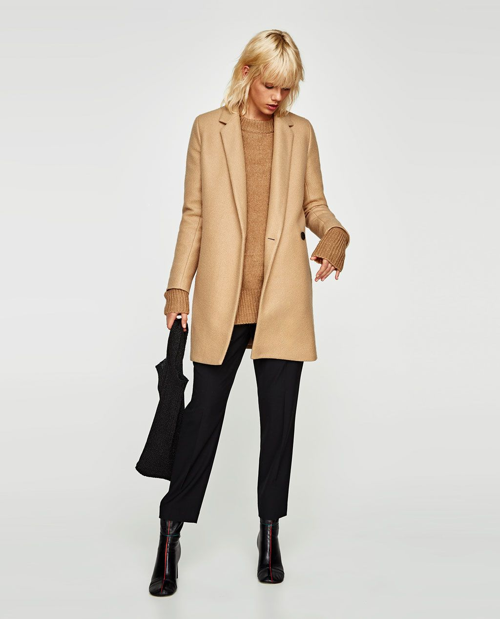 b1d5791c SOFT-FEEL DOUBLE-BREASTED COAT-View all-OUTERWEAR-WOMAN | ZARA United States