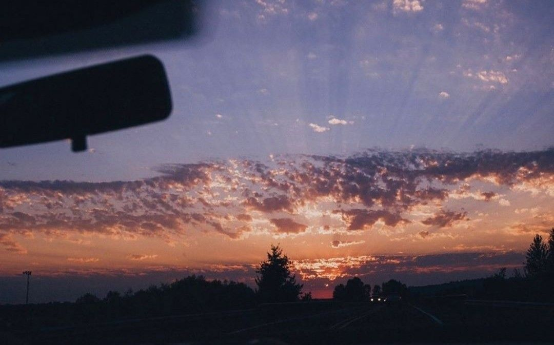 #sunset #prettysky #carride