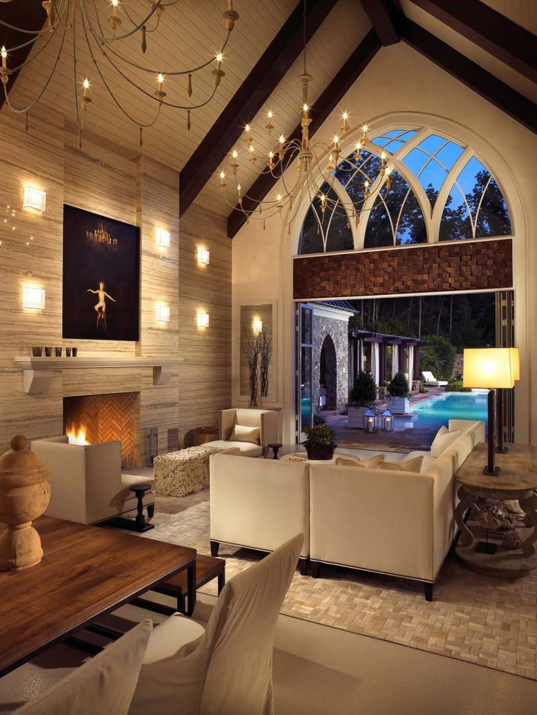 Pool Im Wohnzimmer Gothic Inspired Pool House In Nashville Showcases A Cellar For