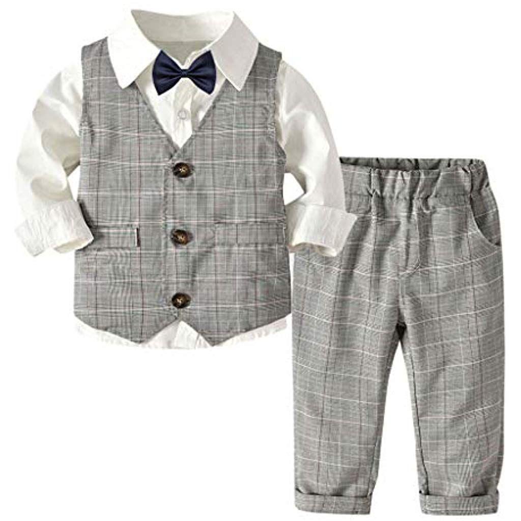 Gentleman Baby Outfit Set Jungen Weste Shirt Strampler Anzug Kleidung baby