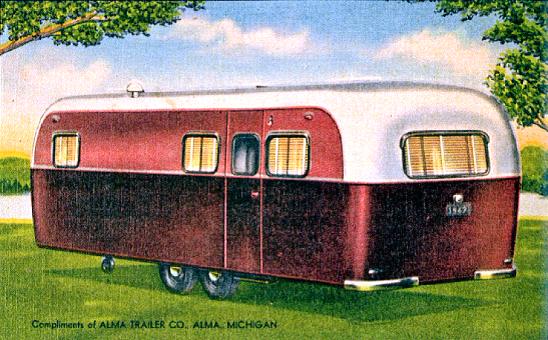 Alma Trailer Co Alma Michigan 1940s Vintage Campers